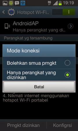 Cara Membuat Samsung Galaxy Sebagai Modem WiFi Portable