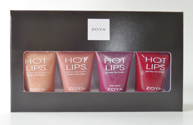 zoya Kissmas Hot Lips Gloss Quad Fame, Flirt, Purr and Marachino