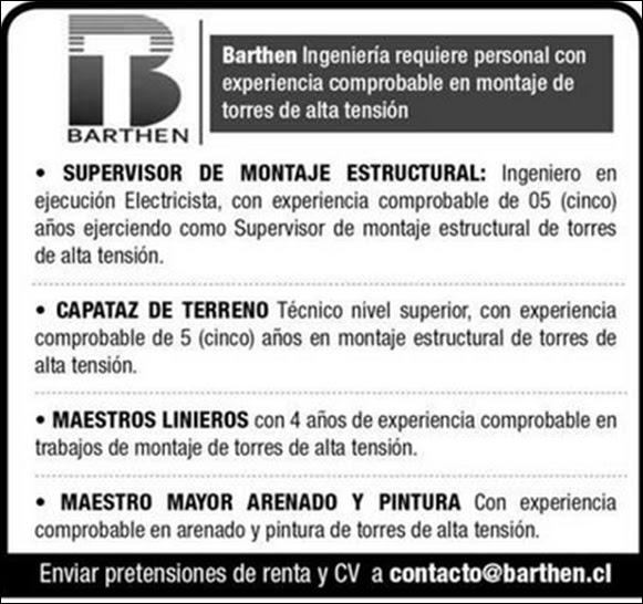 Ofertas laborales 20 09 16 empleos en antofagasta for Trabajo de electricista en malaga