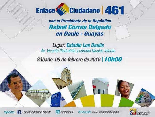 Enlace Ciudadano 461 desde Daule