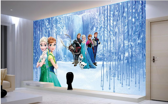 lasten tapetti Frozen 3d