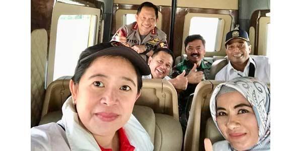 Viral Foto Pose Jempol Panglima TNI bersama Kapolri dan Puan Maharani