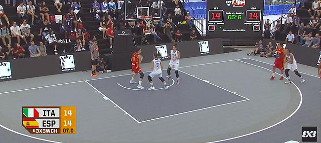 Italy's Game Winner vs Spain (VIDEO) 2016 FIBA 3x3 World Championships