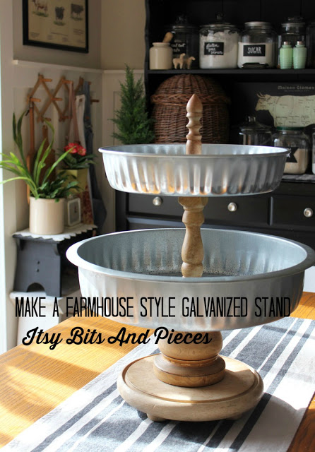 DIY Farmhouse Style Galvanized Stand