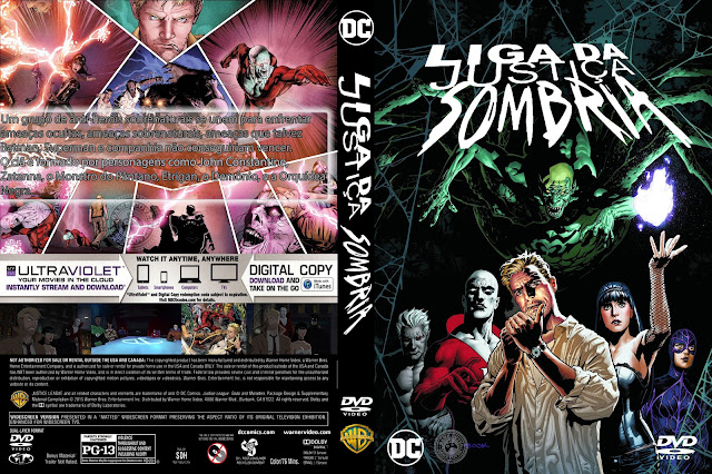 Capa DVD Liga Da Justiça Sombria [Exclusiva]