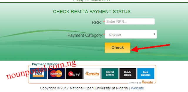 How to Check Remita Payment Status of Noun Fee payments