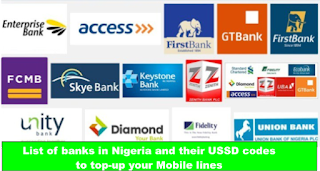 List of Banks in Nigeria And Their USSD Codes to Top-up Your Mobile Lines