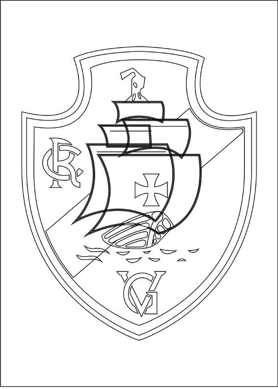 To Colorindo Bandeira Do Vasco Da Gama Para Colorir Futebol