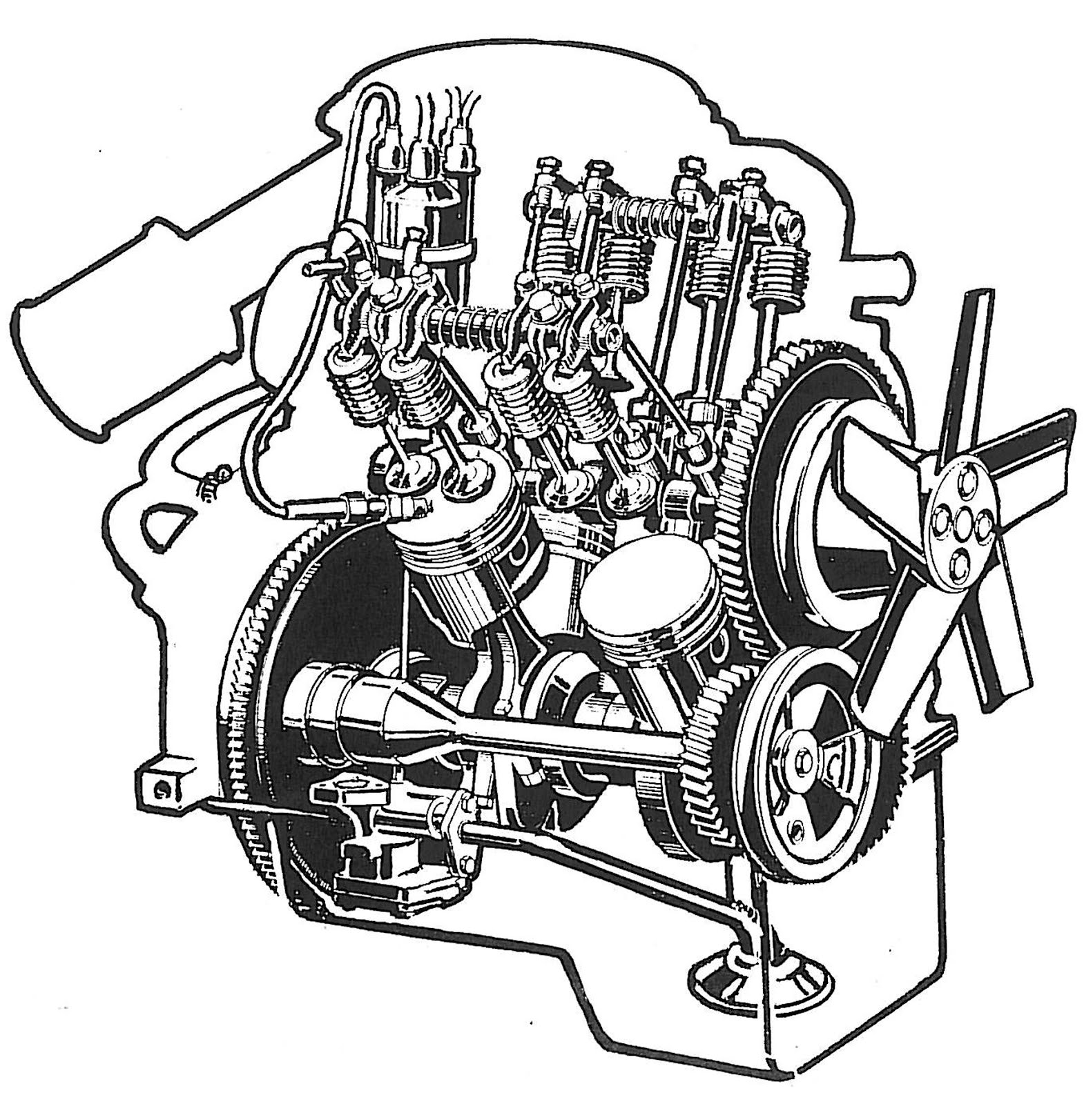 V4 Car Engine Diagram Wiring Library Saab Diagrams
