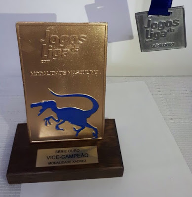Troféu e medalhas conquistados pelo tIME