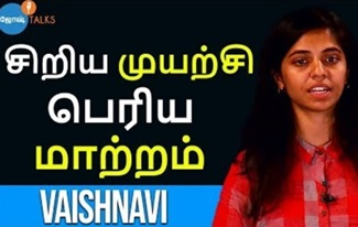 Start Small For a Larger Change | Vaishnavi Balaji | Josh Talks Tamil
