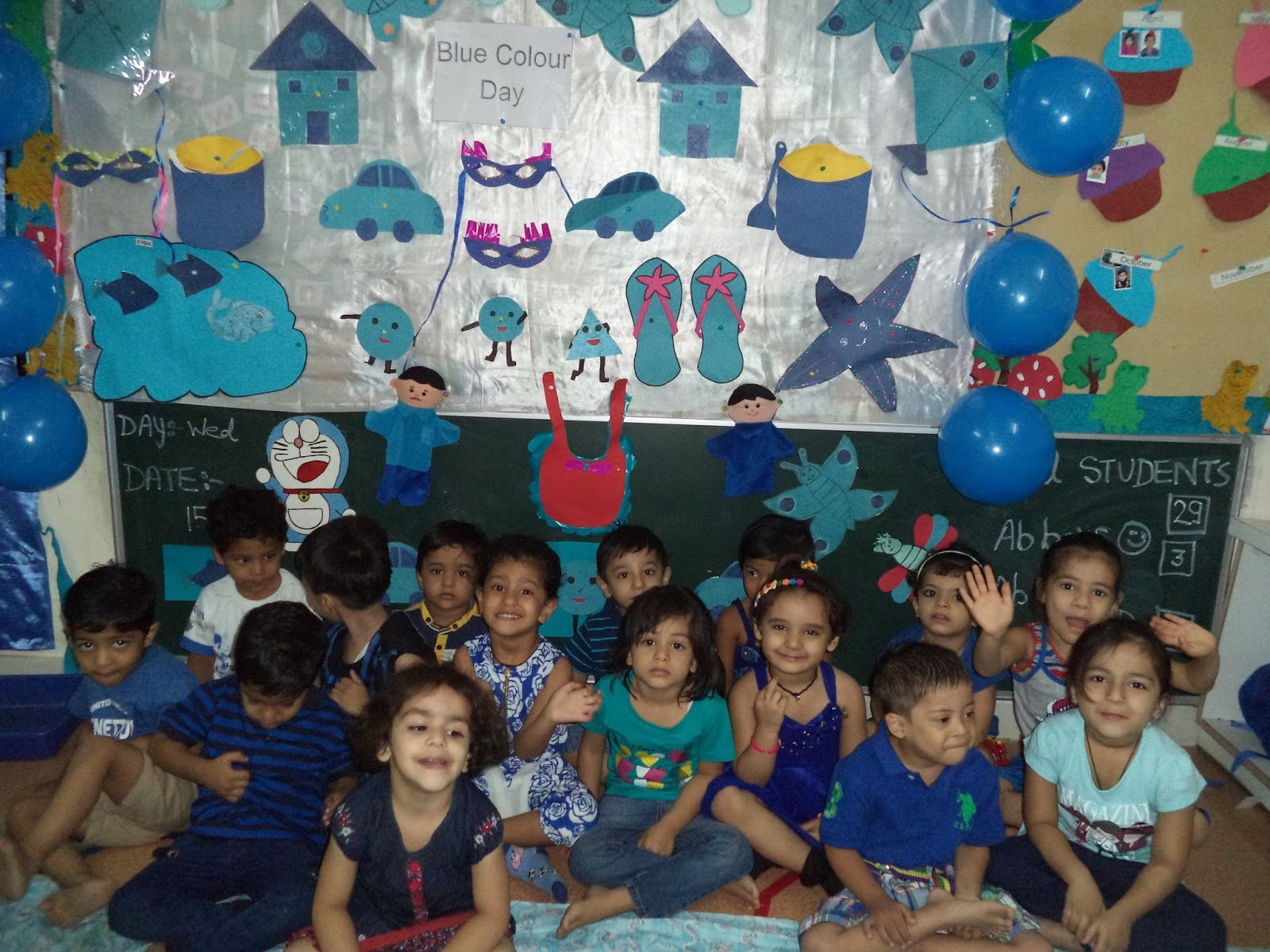 On the top of the World   : Celebrated Blue Colour Day