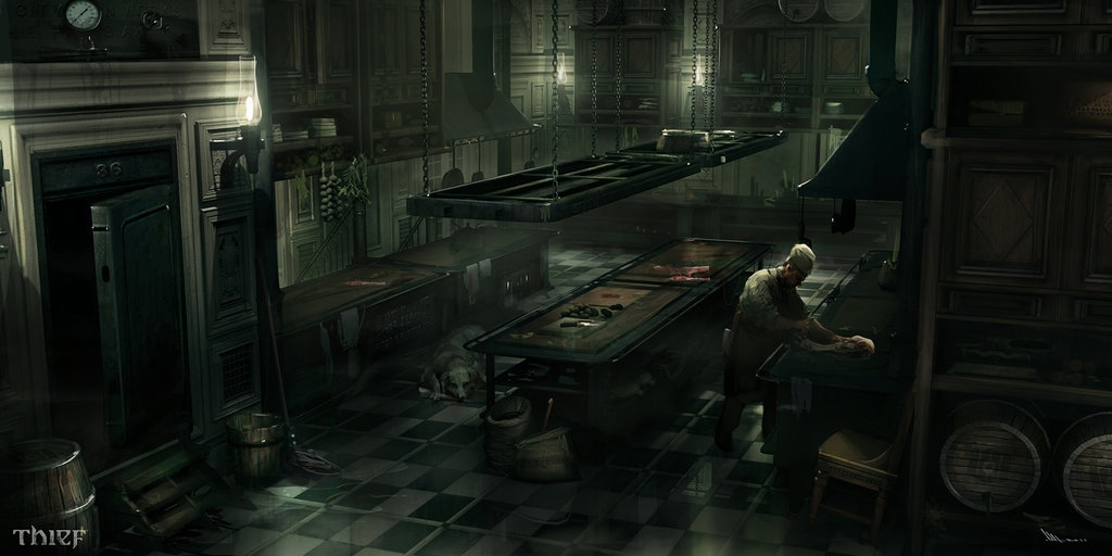 04-Architect-Mansion-Kitchen-Mathieu-Latour-Duhaime-Concept-Art-for-Thief-Steampunk-feel-Video-Game-www-designstack-co