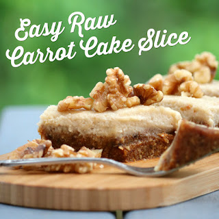 Easy Raw Carrot Cake Slice Recipe