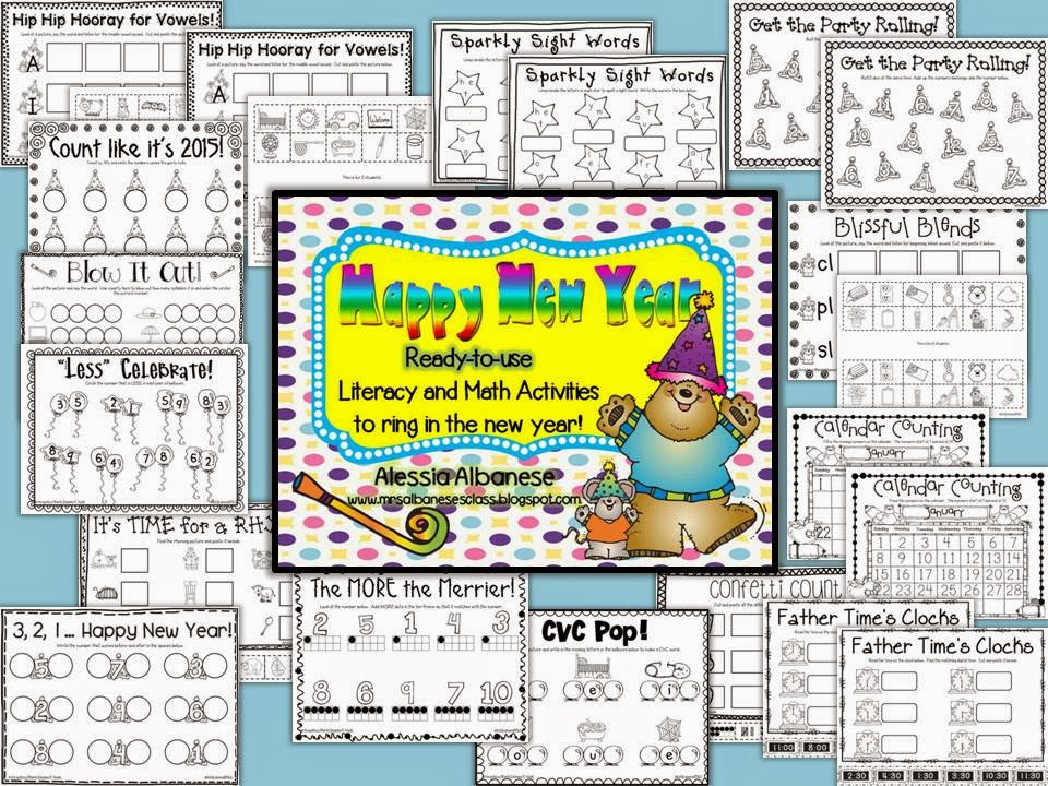 http://www.teacherspayteachers.com/Product/Happy-New-Year-Ready-To-Use-Math-and-Literacy-Centers-1032354