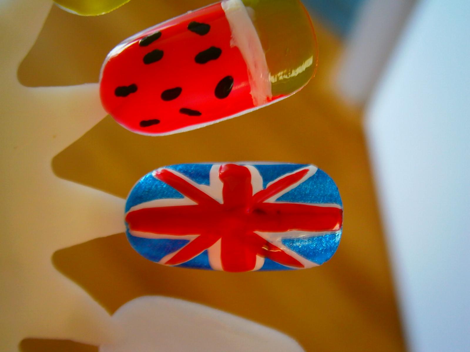 Miss Nagellak Easy Engelse Vlag Nail Art