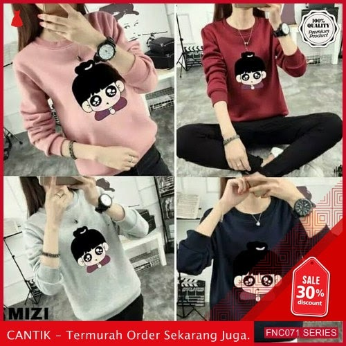 FNC071B63 Blouse Sweater Mizi Long Wanita Sleeve Babyterry Serba 40 Ribuan