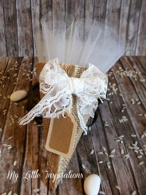DIY Coni Portariso per Matrimonio in stile Rustico Romantico - flat verticale - MLI