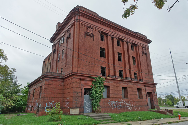 Abandoned Newburgh Masonic Temple in Cleveland Ohio