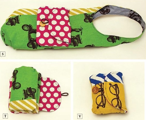 Folding Shopping Bag and Pouch. DIY Tutorial Pattern ~ DIY Tutorial ...