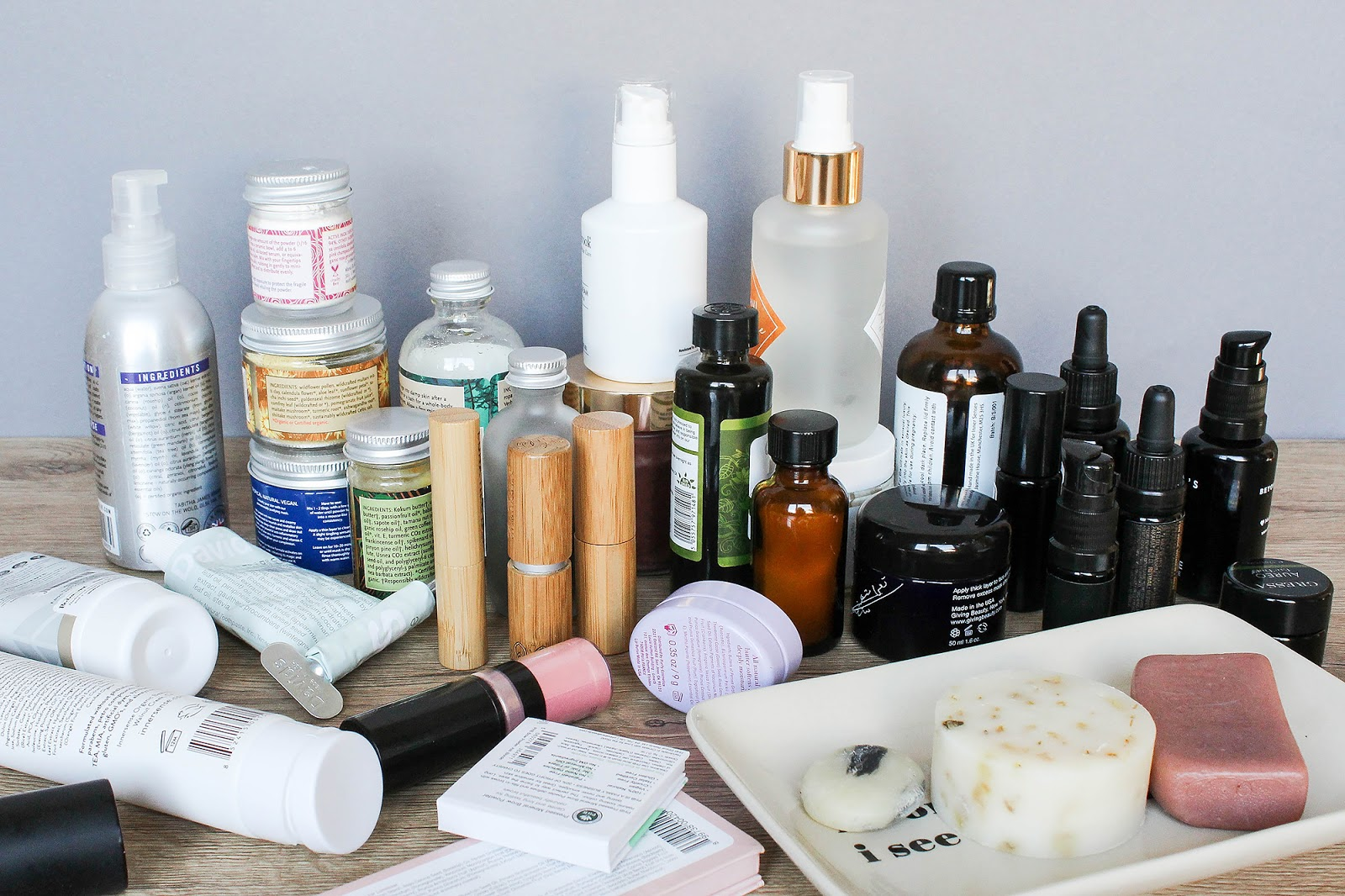 Beauty Products Packaging Is Important. Glass, aluminium, plastic, bamboo, paper.