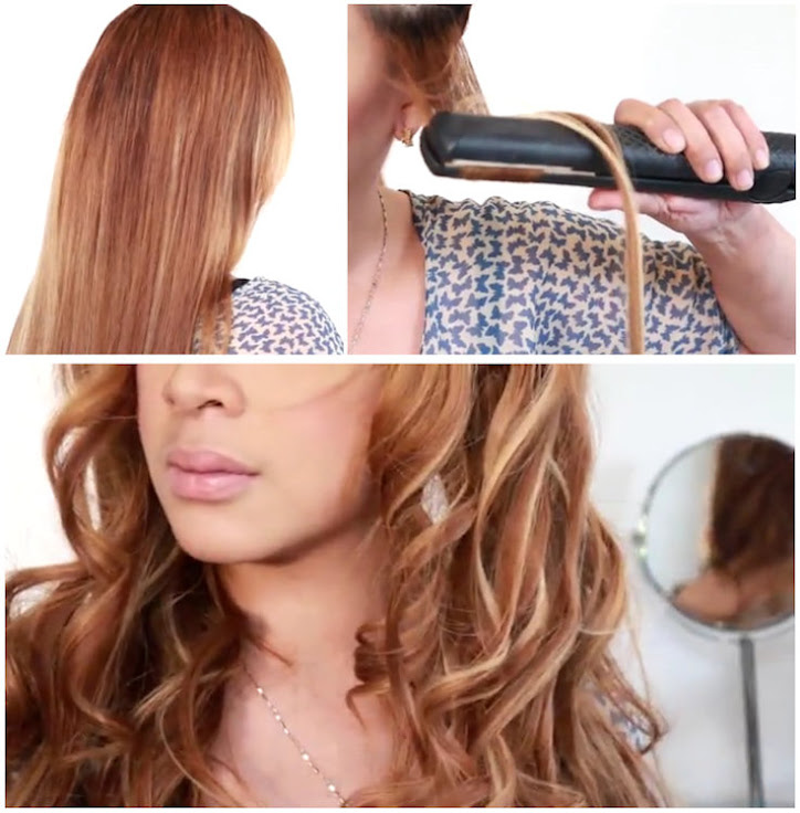 curl your hair with straightener