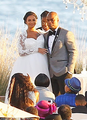 neyo wedding with Crystal Renay