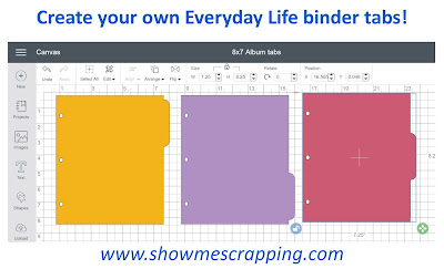 Create your own Everyday Life binder tabs using Artbooking