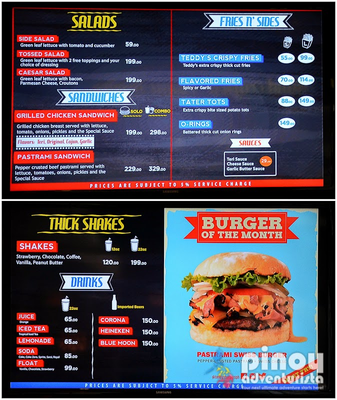 Teddys Bigger Burgers Greenbelt 3 Makati