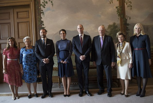 Princess Märtha Louise, Princess Astrid, Prince Haakon, Kate Middleton, Prince William, King Harald, Queen Sonja, Princess Mette-Marit