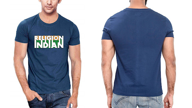 Indian Flag T-Shirt for Indian People for Independence Day and Republic Day.