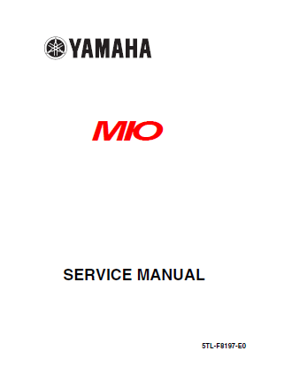 Buku Manual Yamaha Mio  BUKU MANUAL