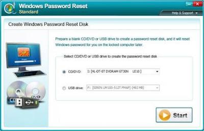 Windows Password Reset 1.90