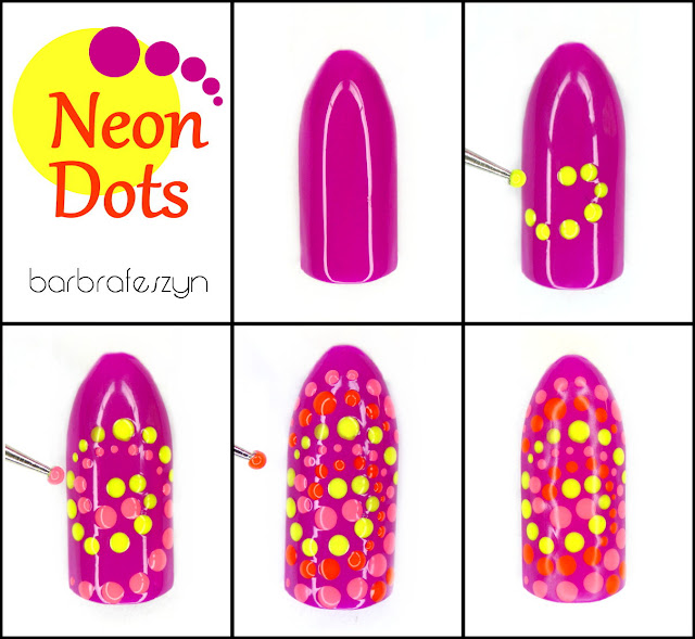 neon dots tutorial