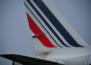 collision entre deux avions d'Air France.