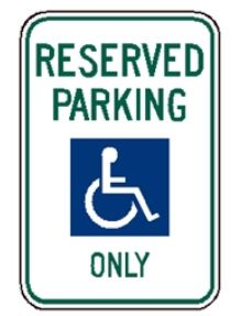 reserved for handicap