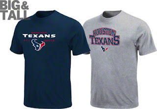 Houston Texans Big and Tall T-Shirt Combo Pack