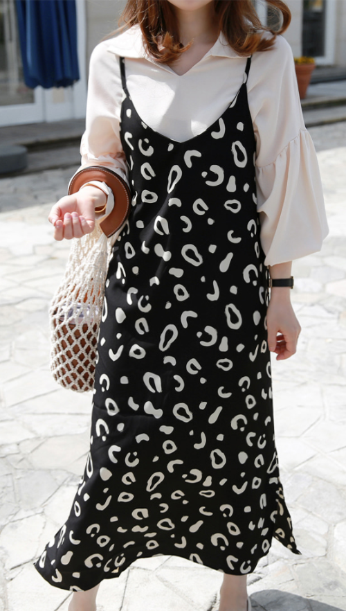 Abstract Pattern Sleeveless Dress