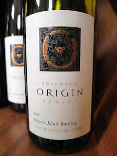 Rosewood Origin Mima's Block Riesling 2014 (88 pts)