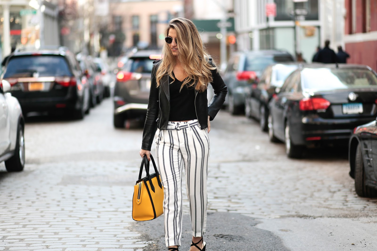 stripe pants outfits, dressed for dreams