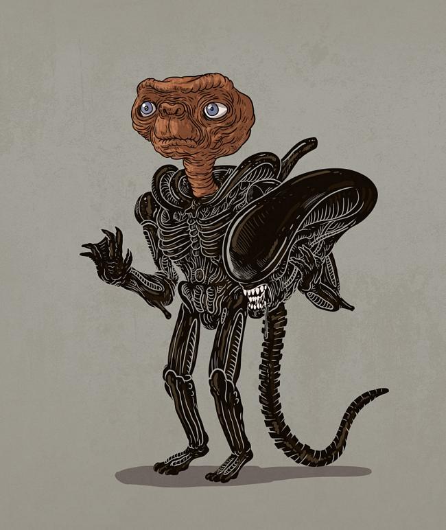a mascara por tras dos personagens alien - A máscara por trás dos seus personagens favoritos