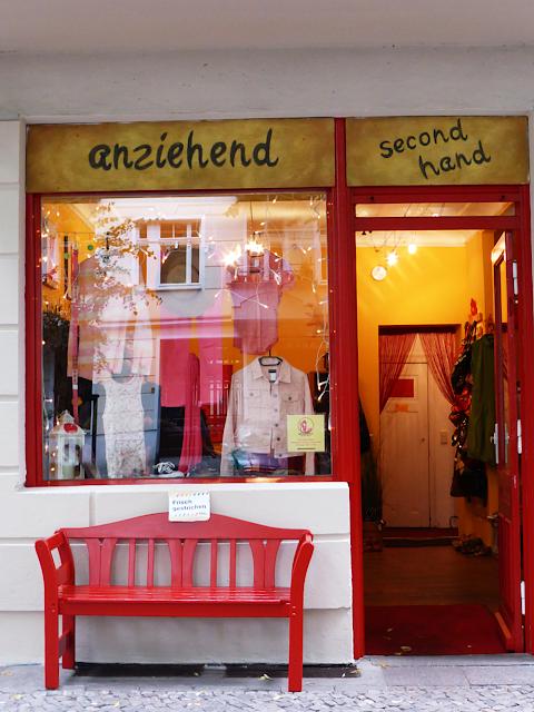 Outside Anziehand in Friedrichshain - second hand shop in Berlin