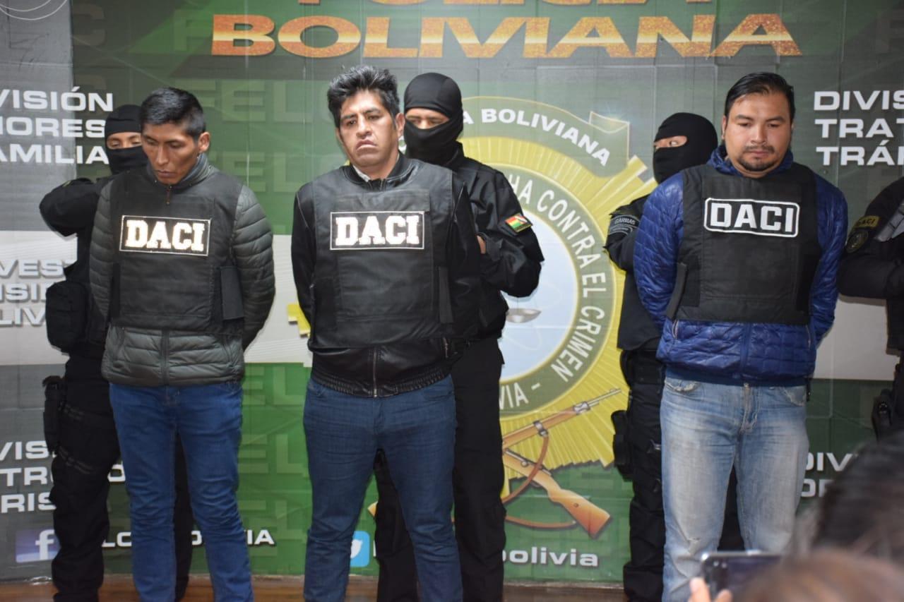 Los alias Diablo, Yemal y Vico planeaban un atraco armado en El Alto / ÁNGEL SALAZAR