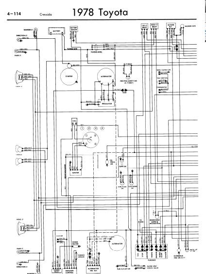 repairmanuals: Toyota Cressida 1978 Wiring Diagrams