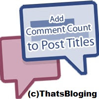 How To Add Comment Counter to Post Header Titles in Blogger