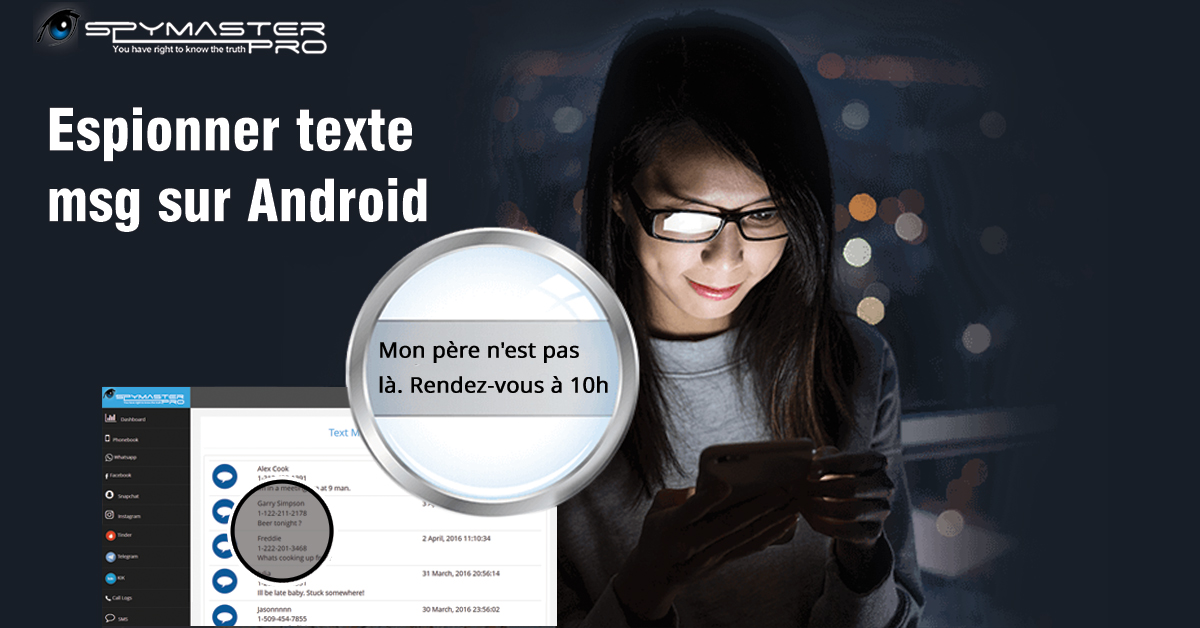 espionner message android