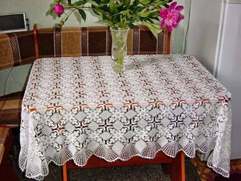 Patrón #1297: Mantel a Crochet
