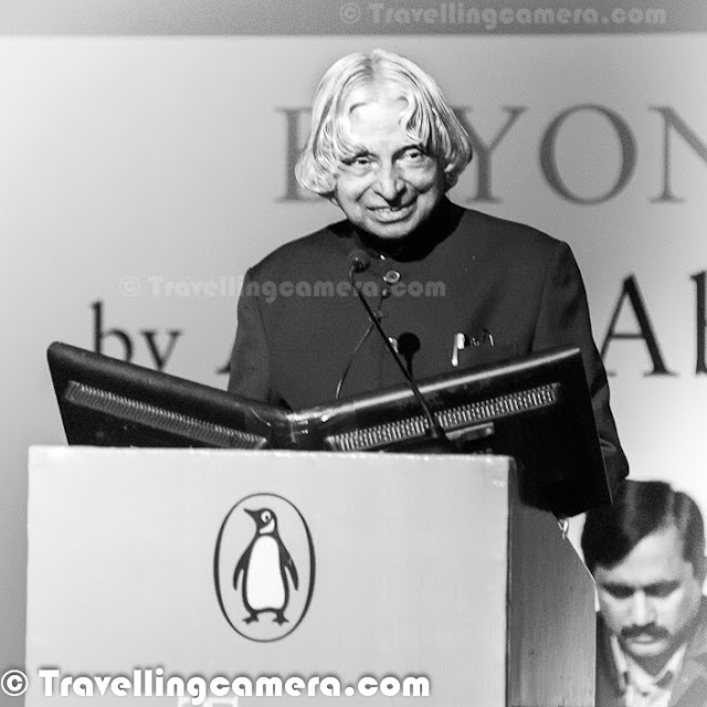 Former President-turned best-selling writer Dr A P J Abdul Kalam uncovered a 10-point agenda for India beyond 2020 as a nation where the rural and urban divide will be reduced to a thin line, distribution of wealth will be equitable and education and value system will not be denied to people. The unveiling was performed on 18th of January at India Habitat Center. It was Penguin Annual Lecture. Let's check out this PHOTO JOURNEY to know more about the great talk by Dr. KalamAndrew Phillips, CEO Penguin India, started the event with some infromation about top selling books of 2012 and welcomes Dr Kalam on stagePenguin Books India, the largest English language trade publisher in the subcontinent, hosted  the Penguin Annual Lecture Series 2012. On the occasion of Penguin Books India's 25th Year anniversary, the Penguin Annual Lecture was delivered by Dr. A.P.J. Abdul Kalam on 'Beyond 2020: Sustained Development Missions for the Nation'. Dr. Kalam shared his well-founded beliefs on the need for sustainable development of the nation and visualized India as an economically developed nation by the year 2020. Avul Pakir Jainulabdeen Abdul Kalam, born on 15 October 1931 and usually referred to as Dr. A. P. J. Abdul Kalam, is an Indian scientist and administrator who served as the 11th President of India. Dr Kalam was born and raised in Rameswaram, Tamil Nadu, studied physics at the St. Joseph's College, Tiruchirappalli, and aerospace engineering at the Madras Institute of Technology (MIT), Chennai. A great personality and humble citizen on the countrAfter joining the stage, Dr Kalam started presenting his ideas about sustainable growth of India through his detailed slides on Beyond 2020: Sustained Development Missions For the Nation.The Penguin Annual Lecture series every year features some of the world's most respected leaders, thinkers and writers, and builds on Penguin India's commitment to bring the finest minds in the world in direct contact with Indian audiences. It is one-of-its-kind annual lecture event to be organized by a publishing house in India. The previous Penguin Annual Lectures have been delivered by journalist and writer Thomas Friedman in 2007, diplomat and writer Chris Patten in 2008, Nobel Prize-winning economist Amartya Sen in 2009, eminent historian Ramachandra Guha in 2010 and his holiness the Dalai Lama in 2011.Creative leaders with vision will be among key drivers for evolution of a sustainable development model that can lead to an economically developed, happy and peaceful India beyond 2020, according to former President A P J Abdul KalamTalking about the value system Dr A  P J Abdul Kalam said that 'I want to see how many young children can change the value system in country. During 2003 youth started to ask what I can do to change the situation and contribute to the development of the nation.....During the last 6 months I see a further change in the youth, who now say I can do it. This has given me confidence that India will become an economically developed nation by 2020.'Dr Kalam has been working on sustainable model for civic amenities in rural India under the project 'Provision of Urban Amenities in Rural Areas (PURA)' since 2003. He said that it could improve the lot of 700 million people of India by developing systems that would 'act as enablers' for inclusive growthDr Kalam also focused on giving back to the environment. H added that for millions of years humanity has always been taking resources without giving anything back to the planet. Time has come to take less and less from nature to achieve sustainability....It will lead to well-being of the people and continuous growth. Audience had some interesting questions around the same during end of the sessionDr A P J Abdul Kalam gave new thoughts to ensure how the benefits of the economic prosperity reach the people at the bottom of the pyramid, as also to ensure qualitative and quantitative benefits reach the 700 million people in the 6,00,000 villages. Dr Kalam cited need of visionary leaders, like C Subramanium, MS Awaminathan and Vikram Sarabhai. During the talk, Dr Kalam added about the role of publishing houses. Dr Kalam has authored books like the 'India 2020: A Vision for the New Millennium', 'Ignited Minds' and 'Turning Points: A Journey Through Challenges'. He said that big publishers like Penguin could become partners in the country's development success story by 'presenting more researches and papers on the country's success stories in the development in the form of books and e-books'.The missile man of India narrated an incident of 1990s, when during his address to a group of children in Ahmedabad a young girl got up and asked him when she could start 'to sing a song of India?'. Dr. Kalam said that he came to understand that the girl's elder brother, who lived in the US, used to give her accounts about the beautiful lakes, roads and prosperity there and she wanted Kalam to tell her when she too can 'sing a song about India like her brother was singing a song about America'. During the end of the session, Dr Kalam took around 10 questions from audience and while answering one of the question around Anti-Corruption in India, he mentioned - 'I believe that Anna Hazare route is definitely going to bring us a very powerful law on anti-corruption one day. But there is no place in jail as all the prisons would get filled up, do you want that?In Dr Kalam's book India 2020, he strongly advocates an action plan to develop India into a knowledge superpower and a developed nation by the year 2020. He regards his work on India's nuclear weapons program as a way to assert India's place as a future superpower. It was reported that, there was a considerable demand in South Korea for translated versions of books authored by him.Kalam continues to take an active interest in other developments in the field of science and technology. He has proposed a research program for developing bio-implants. He is a supporter of Open Source over proprietary solutions and believes that the use of free software on a large scale will bring the benefits of information technology to more peoplCEO, Penguin India, sharing Thanks notes with everyone present and Dr Kalam @ India Habitat Center (IHC, Delhi)During the end of the talk audience wanted to have autographs of Dr Kalam on his book or other pads. At the same time son of CEO came to the stage to get the autographs. Somehow, this disturbed me a bit. Isn't it a type of corruption where selected people get access to something for which others are putting their best efforts. Anyways, would like to hear your thoughts around the same?