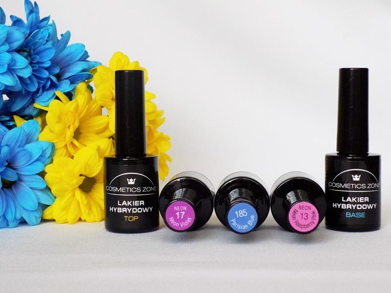 Manicure hybrydowy wykonany produktami Cosmetics Zone- kolorowy zawrót głowy jesienią :)