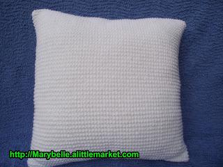 crochet et tricot facile avec explications coussin tricot au point de sable. Black Bedroom Furniture Sets. Home Design Ideas